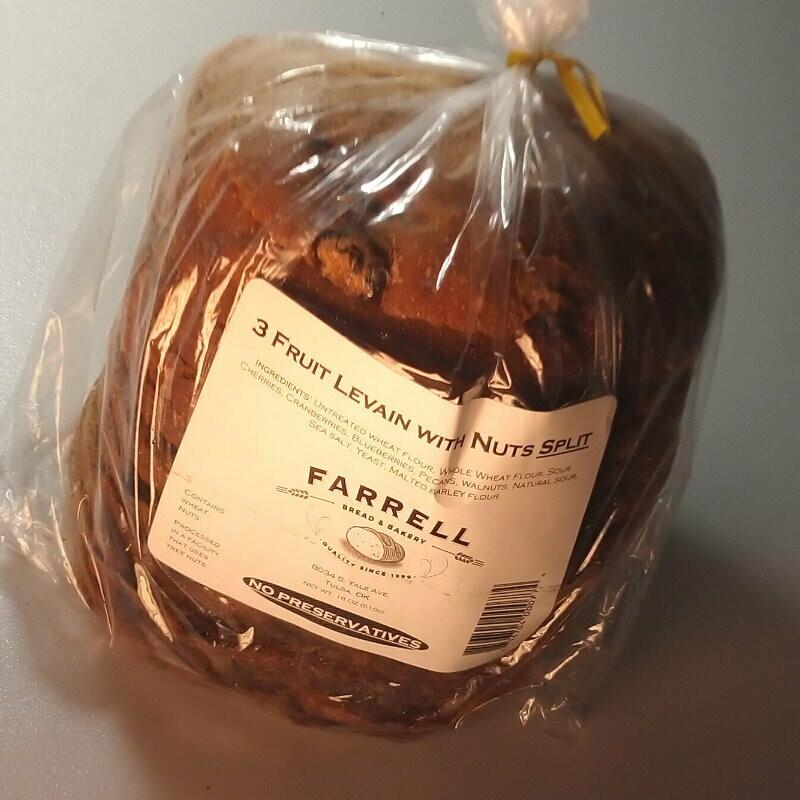 Farrell Bread - 3 Fruit with Nut Split - 1.5 lbs.