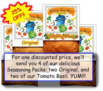 4 PACK DISCOUNT: You get a DISCOUNTED PRICE on 2 Packs of our Original, and 2 Packs of our Tomato Basil.