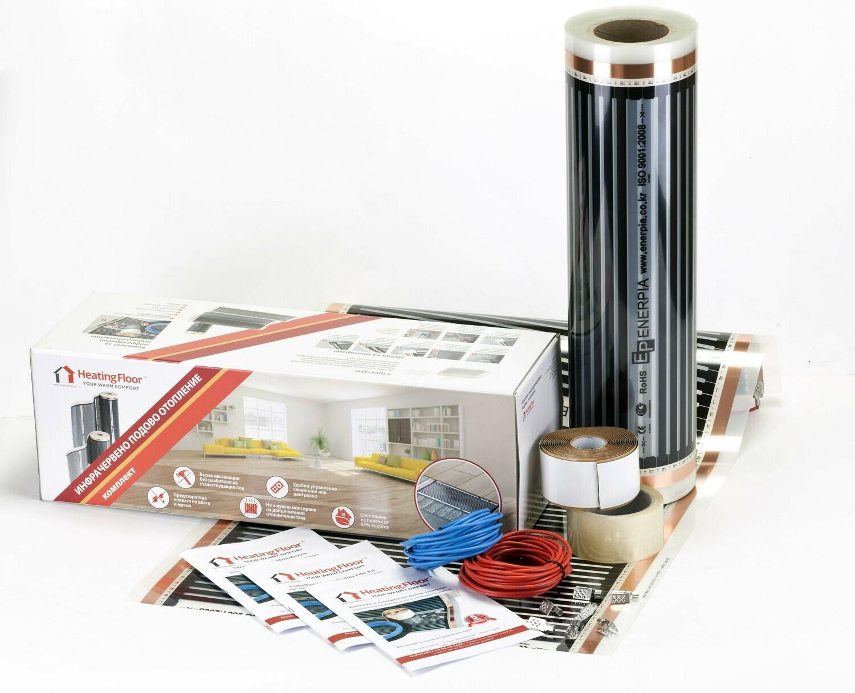 BASIC KIT 220W/sq m, width 50cm, Underfloor Heating Film for under Laminate & Wood