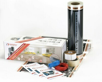 BASIC KIT 220W/sq m, width 50cm, Underfloor Heating Film for under Laminate & Wood