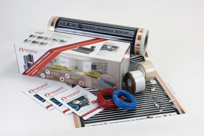 BASIC KIT 80W/sq m, width 50cm, Underfloor Heating Film for under Laminate & Wood