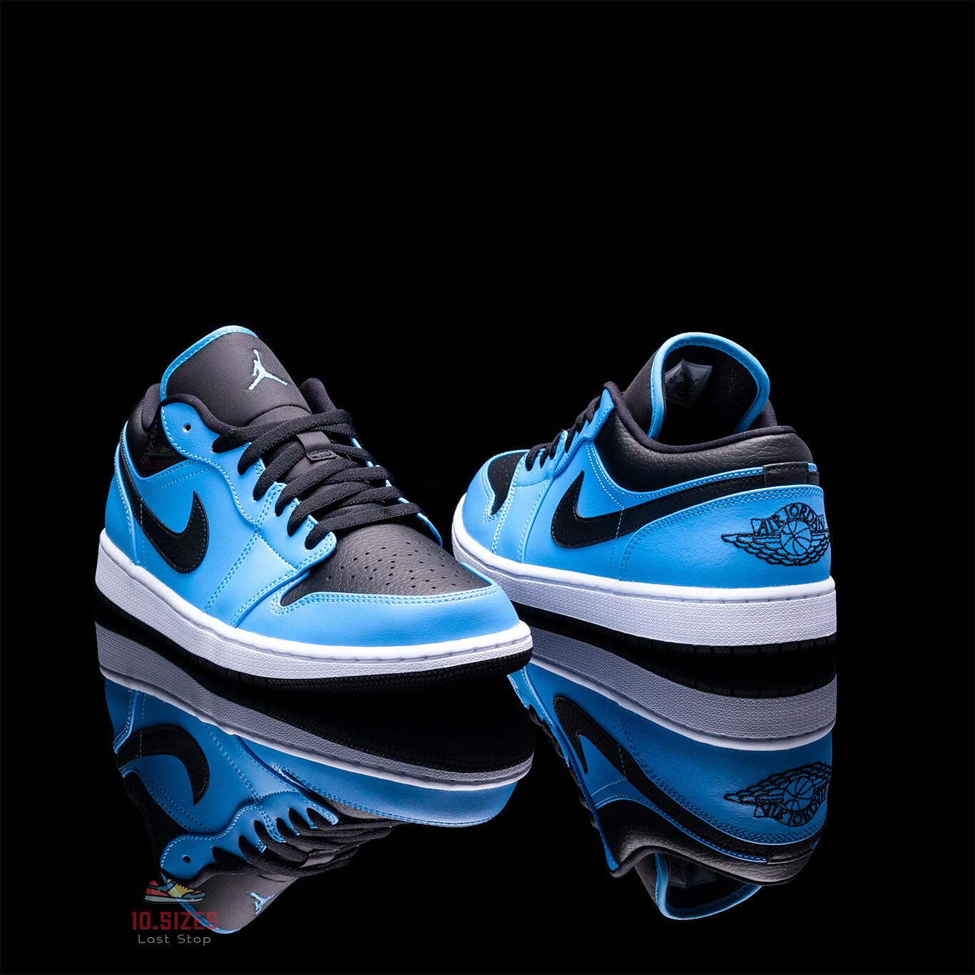 AIR JORDAN 1 LOW 'UNIVERSITY BLUE BLACK'