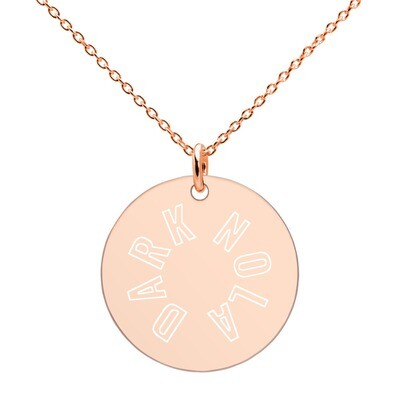 Dark Nola Engraved Silver Disc Necklace
