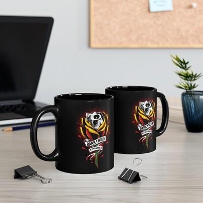 Rose Skull Black mug 11oz
