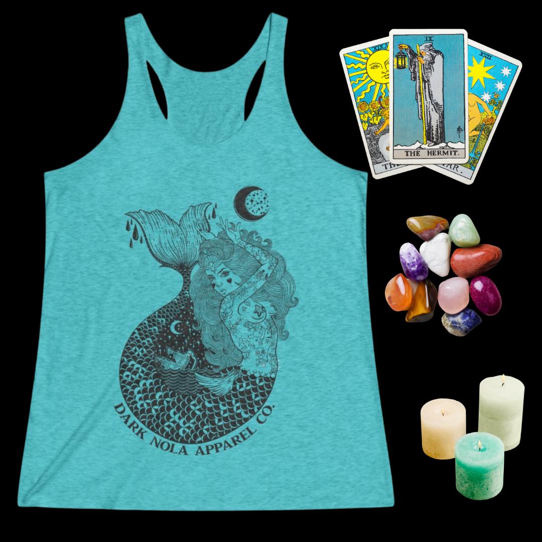 Dark Nola Goth Mermaid Women's Tri-Blend Racerback