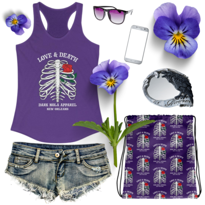 Love and Death Women's Ideal Racerback Tank