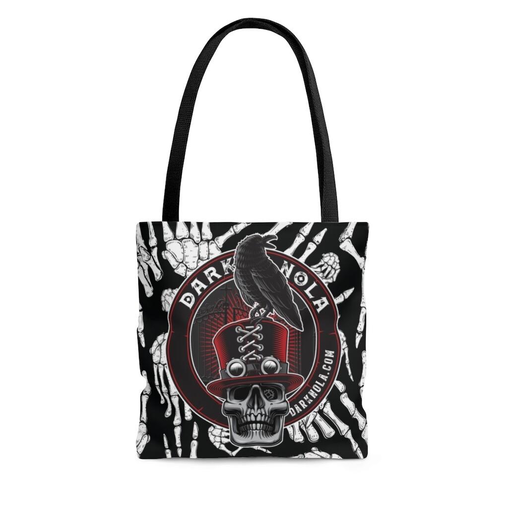 Dark Nola AOP Bones Birthday Tote Bag