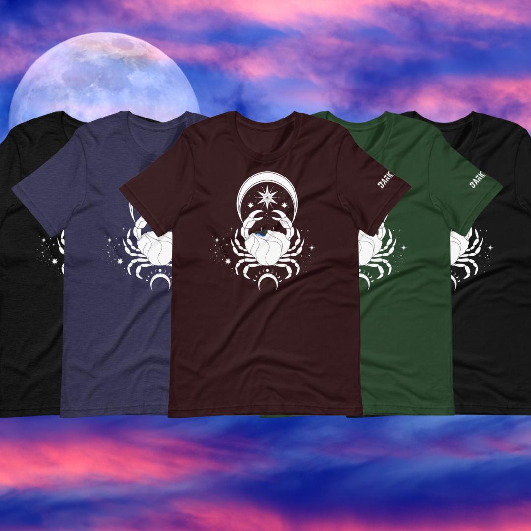 Moon Crab Short-Sleeve Unisex T-Shirt