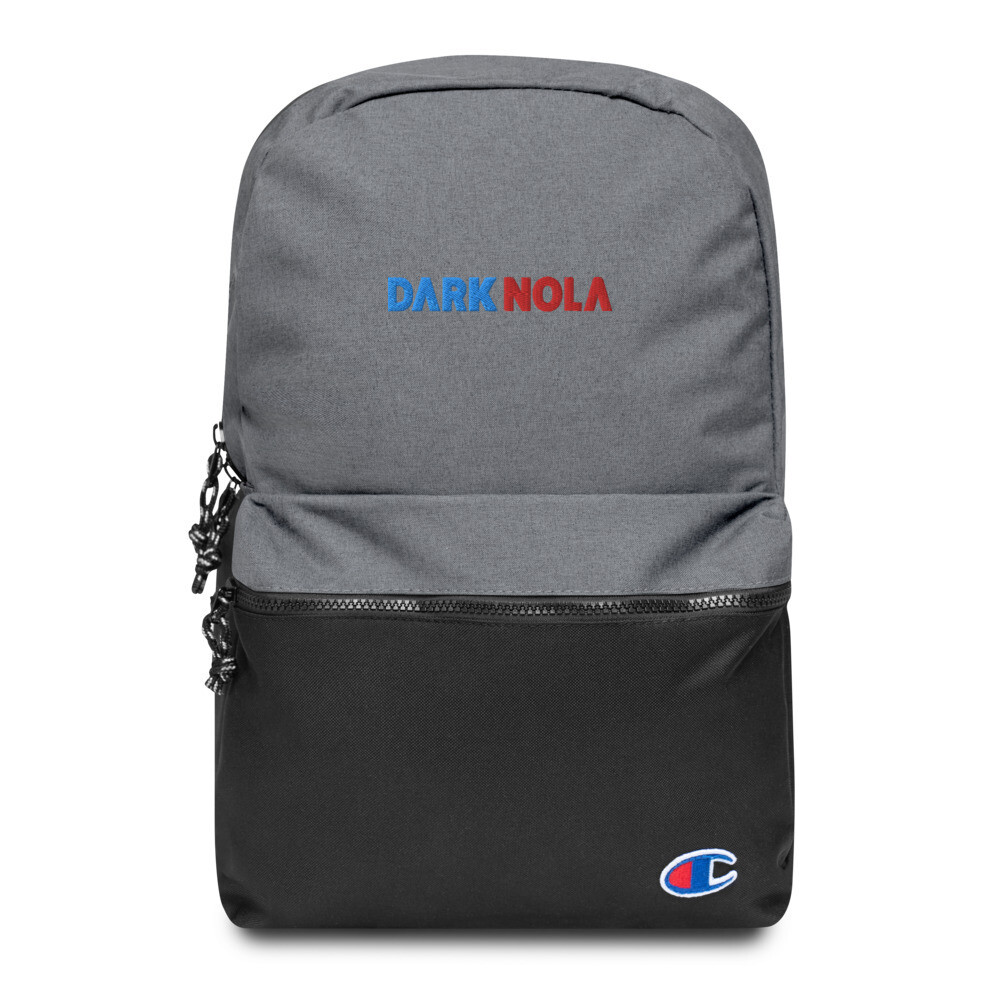 Dark Nola Embroidered Champion Backpack