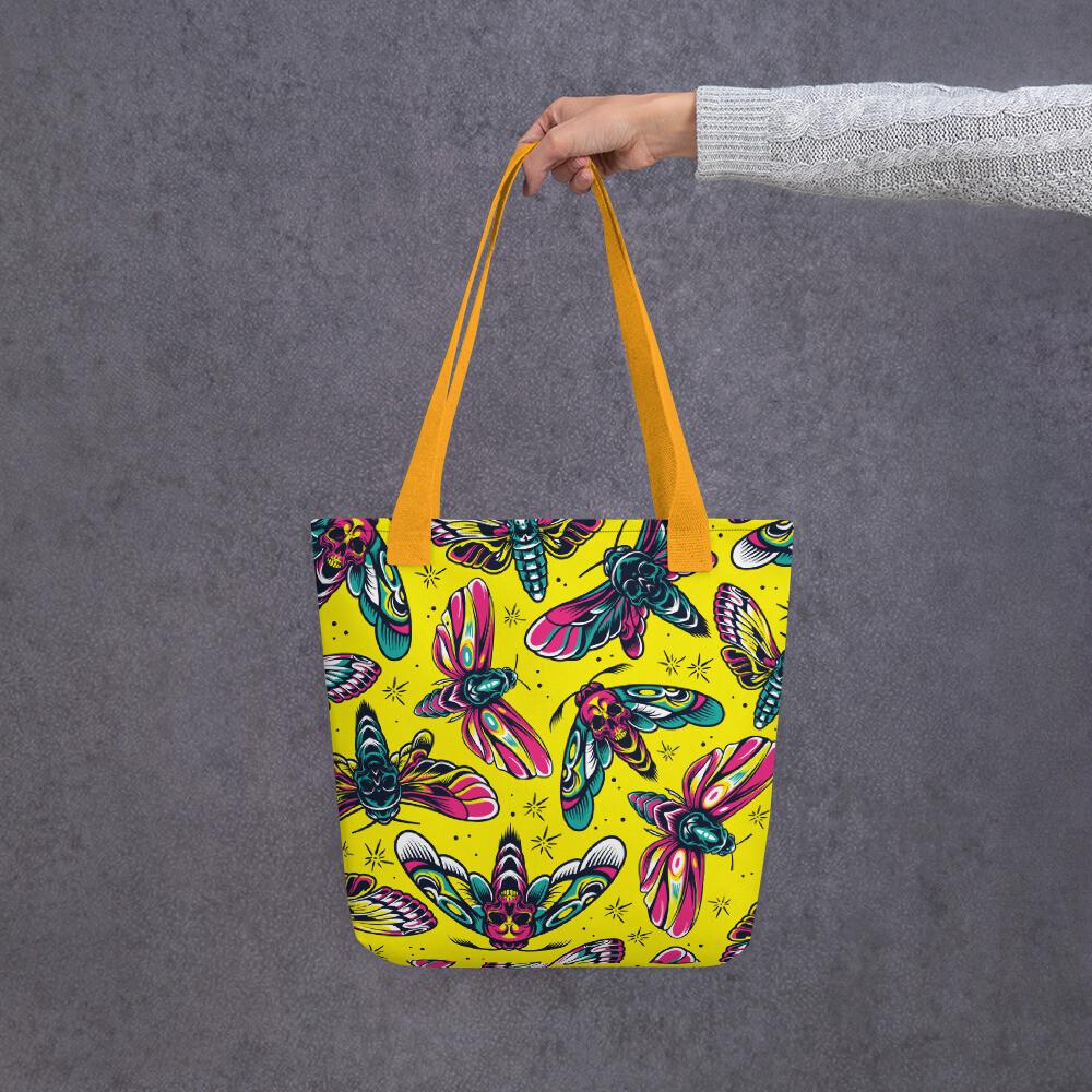Yellow Moth Tote Bag