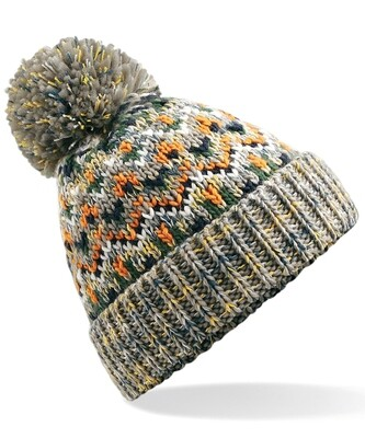 Lined Bobble Beanie