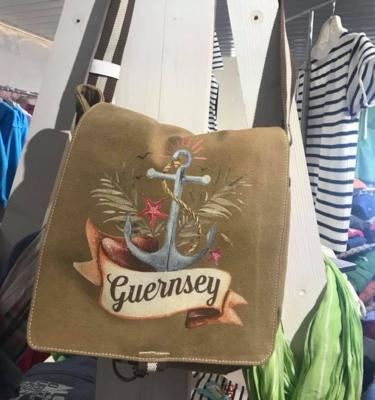 Fern Anchor vintage Messenger Bag