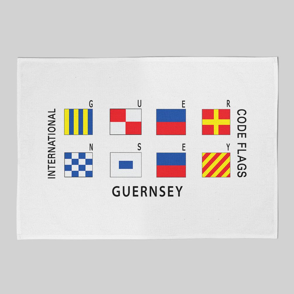 Code Flags Tea Towel