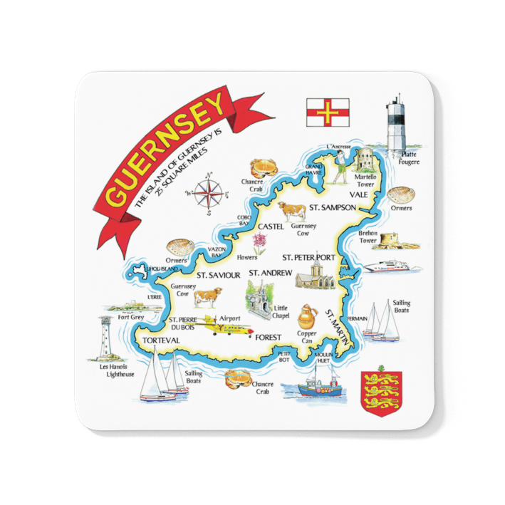 Multipic Map Wood Coaster