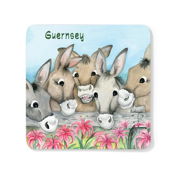 Donkey Friends Wood Coaster