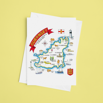 Multipic Map Greeting Card