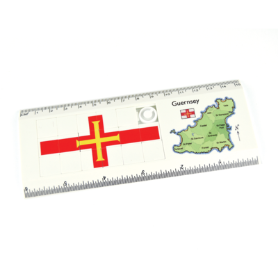 Guernsey Map & Flag Puzzle Ruler