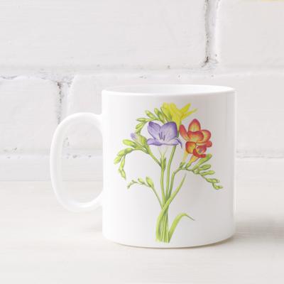Guernsey Freesia Mug