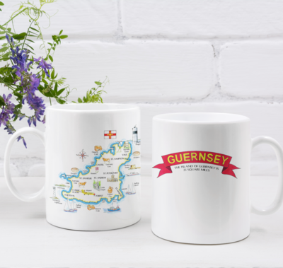 Multipic Guernsey Map Mug