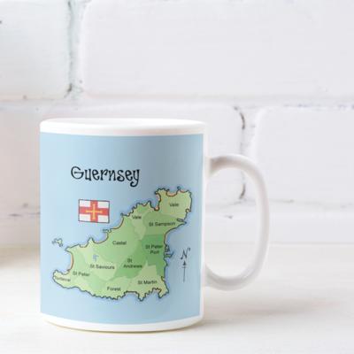 Guernsey Map Mug