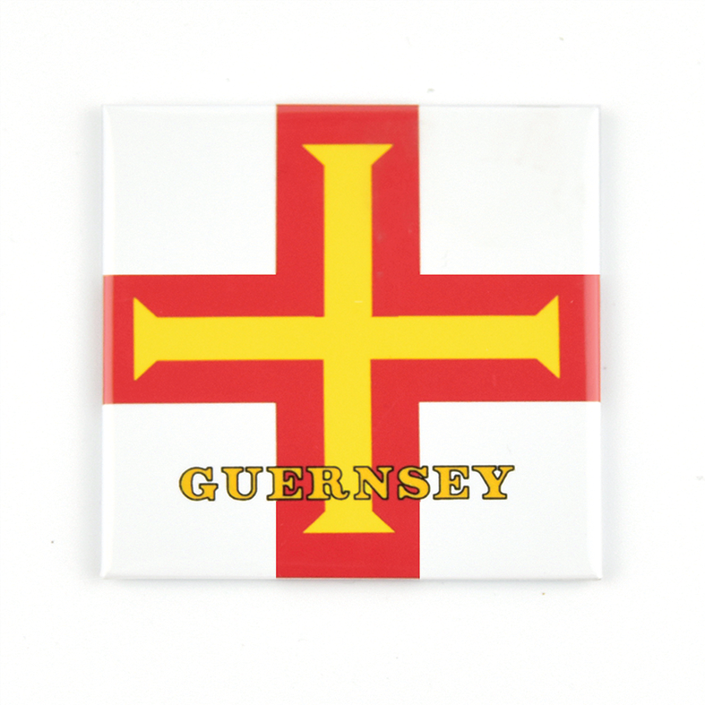 Guernsey Flag Square Magnet