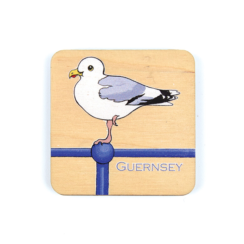 Seagull Wooden Magnet