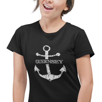 Distressed Anchor Ladies T-Shirt