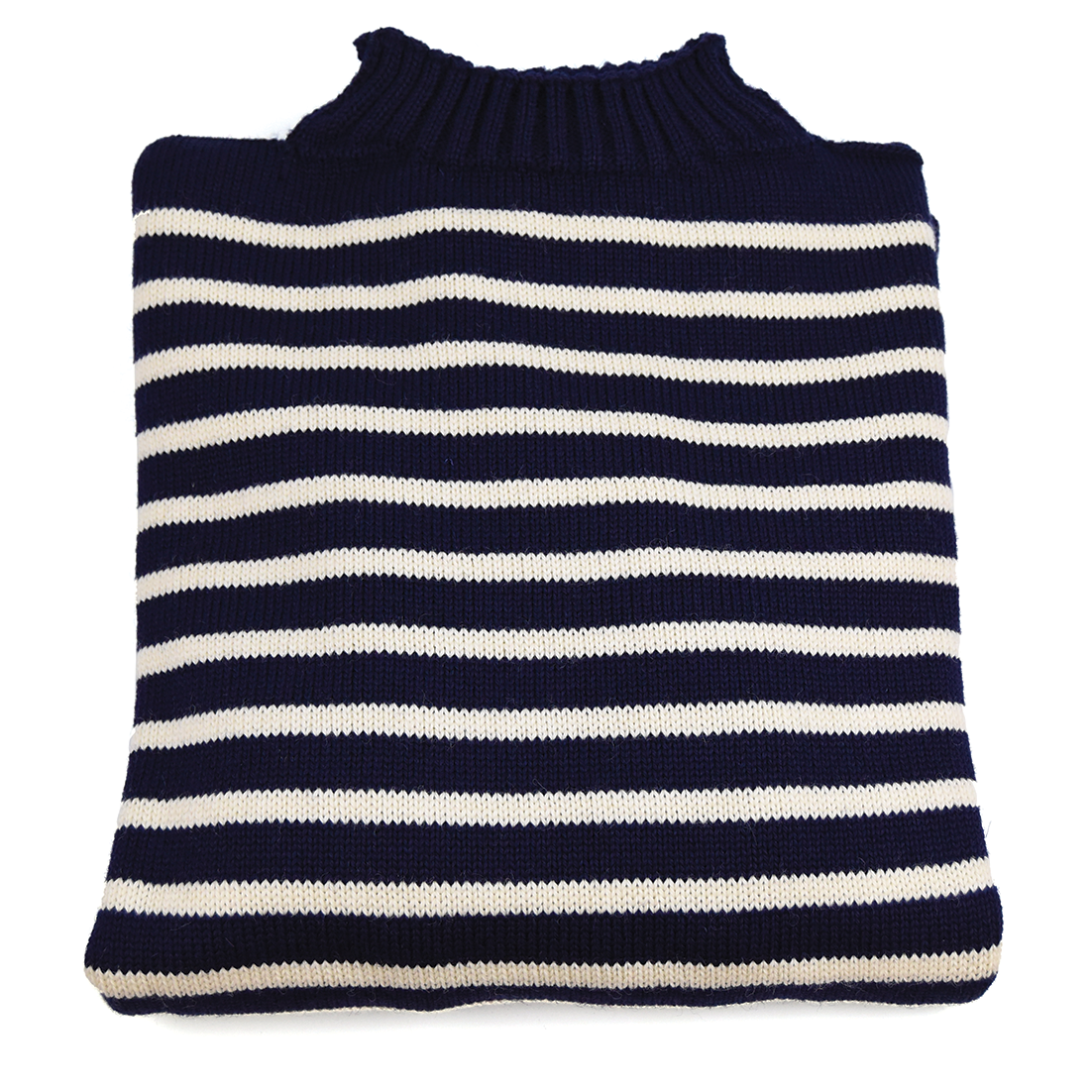 Traditional Wool Guernsey - Navy Stripe