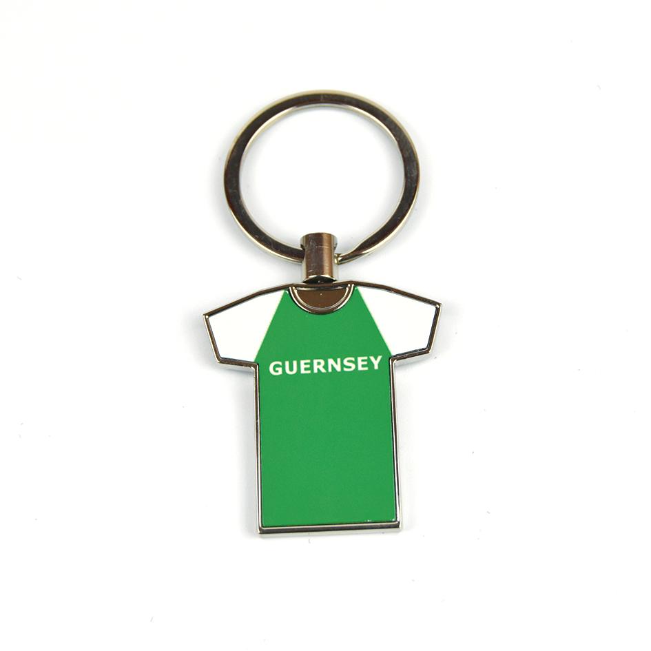 Guernsey Green Shirt Metal Keyring
