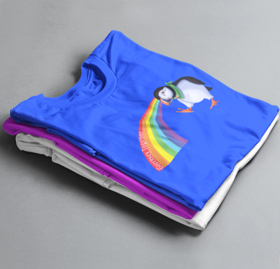 Rainbow Puffin or Donkey Guernsey Together T-Shirt