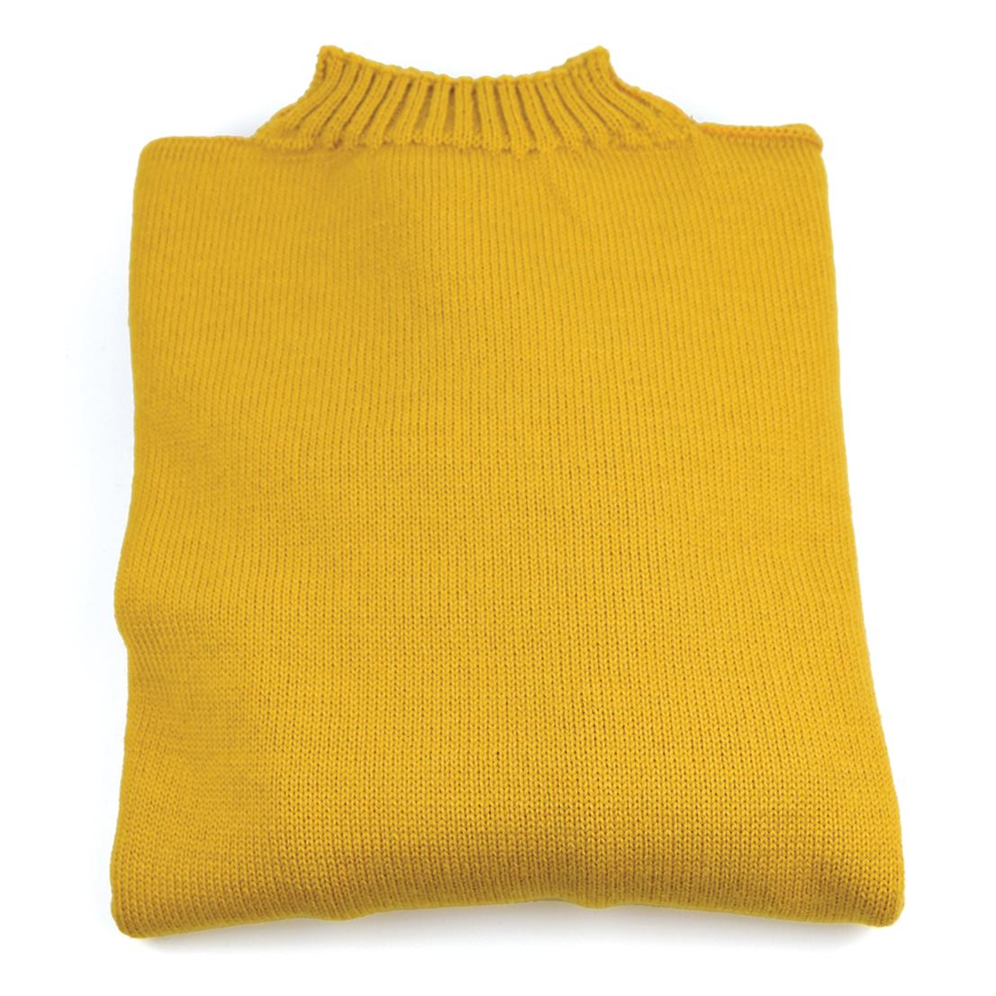 Traditional Wool Guernsey - Mustard