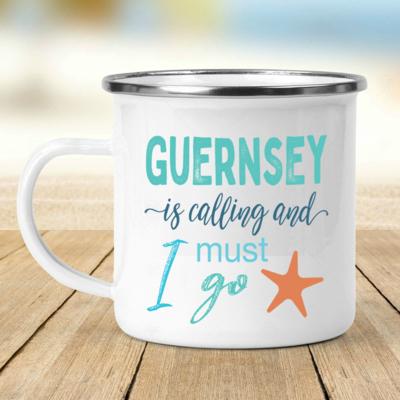 Guernsey is Calling Enamel Mug