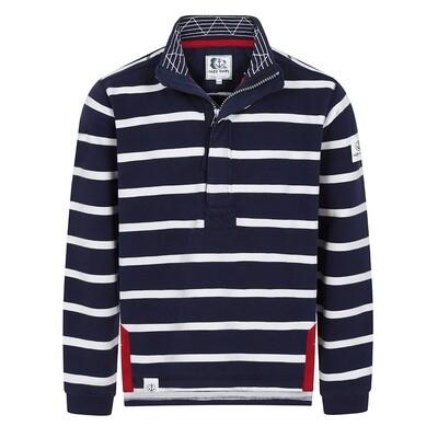 Lazy Jacks striped Qtr Zip Sweater