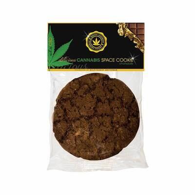Biscuit spatial au chocolat à l'américaine au cannabis