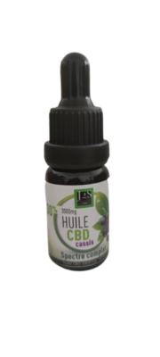 HUILE CBD Cassis Spectre Complet 30% 3000Mg 10Ml 30%
