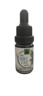 HUILE CBD Spectre Complet Arôme Cassis 5%