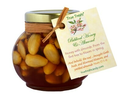 Blanched Almonds in Honey Jar