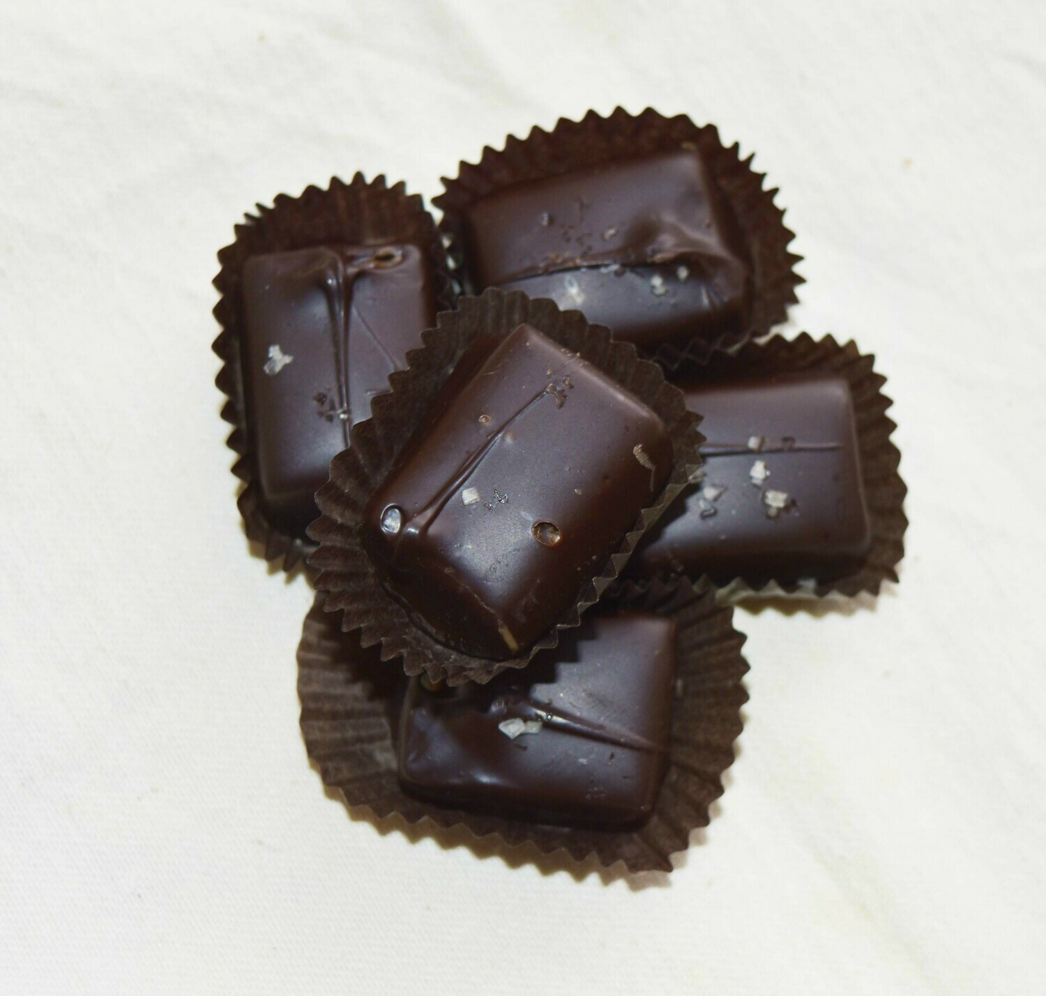Salted Chocolate Covered Caramels