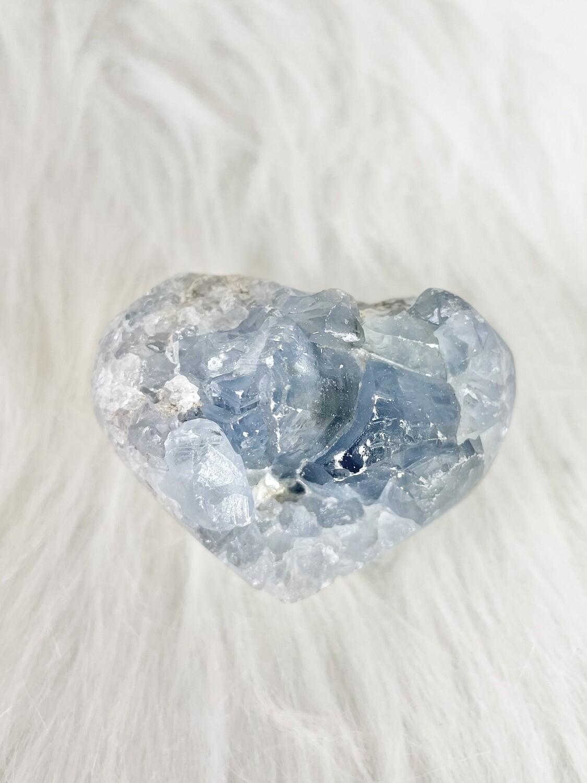 Glacier Celestite Heart