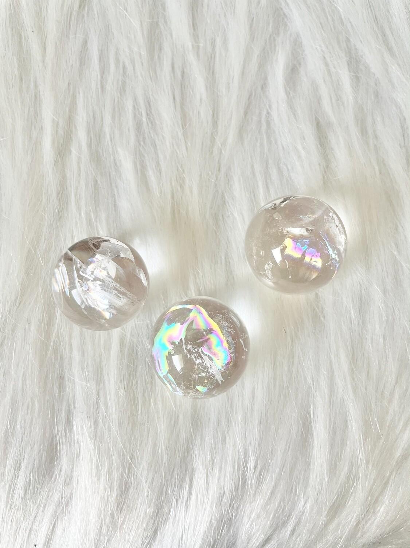 Rainbow Clear Quartz Spheres
