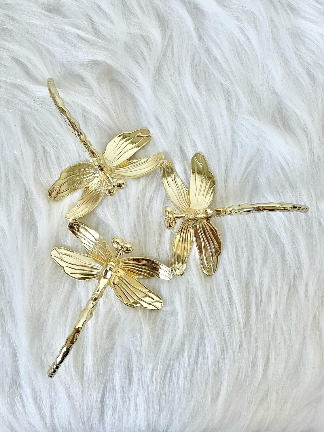 Dragonfly Gold Metal Sphere Stand