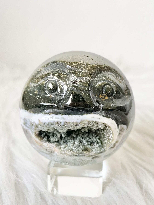 Shocked Ocean Jasper Sphere