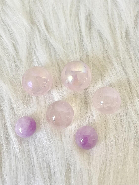 Bubblegum Balls Rose Quartz Sphere