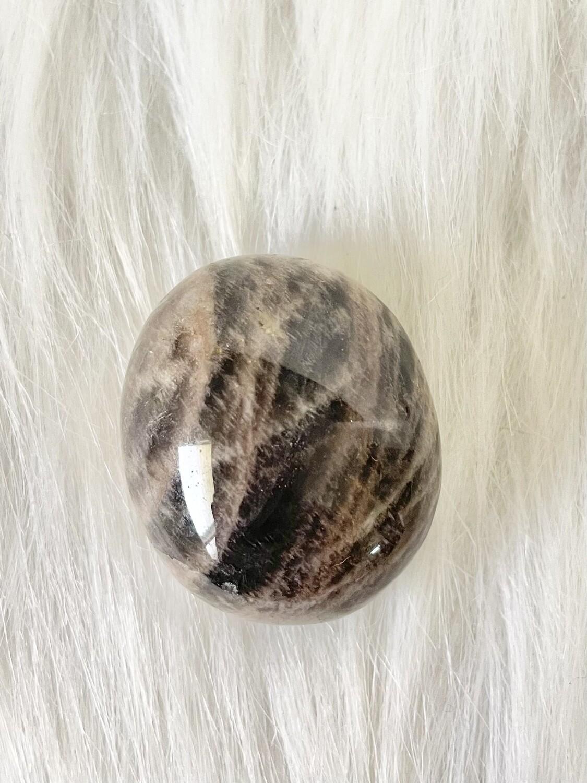 New Moon Black Moonstone Tumble