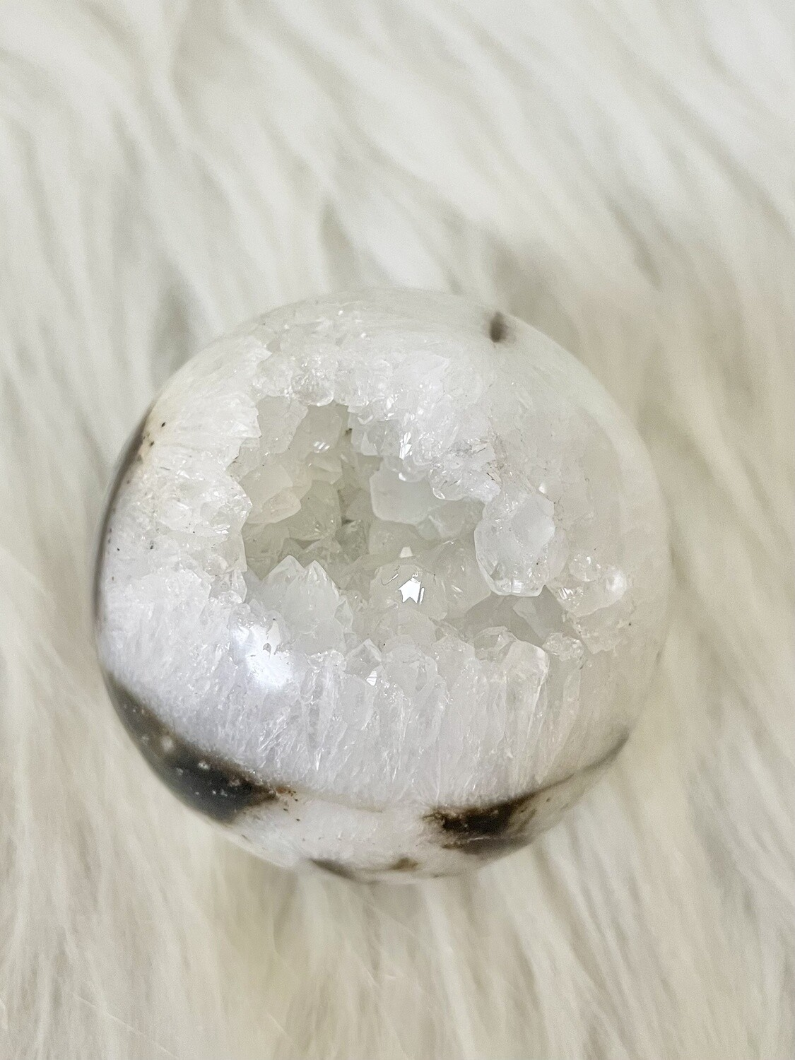 Tiger Mouth Tiger Dendritic Druzy Sphere