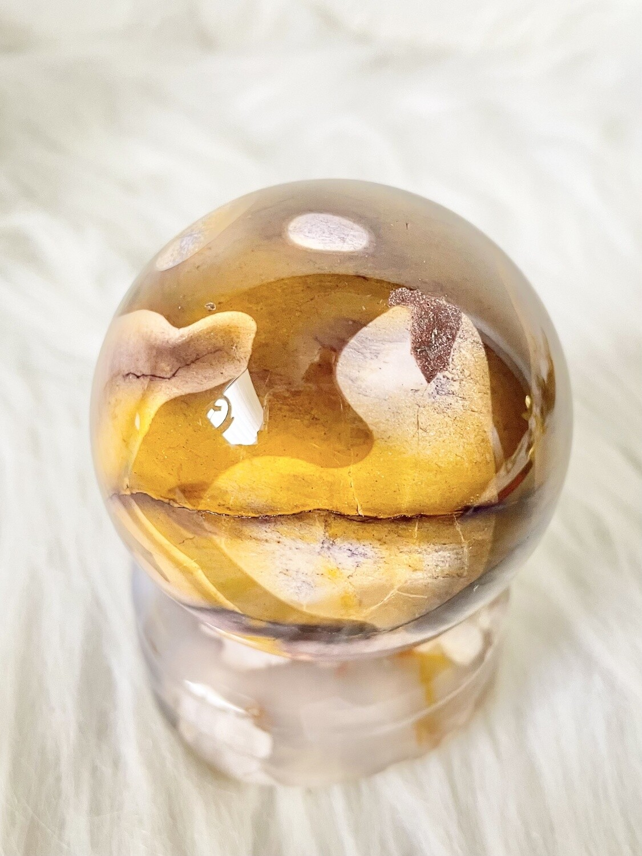 Wolf & Cat Mookaite Sphere