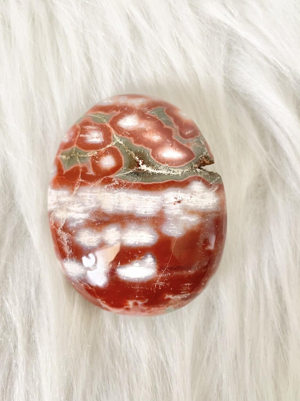 Cherry Barb Ocean Jasper Palmstone
