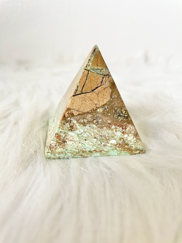 Divine Chrysoprase Pyramid