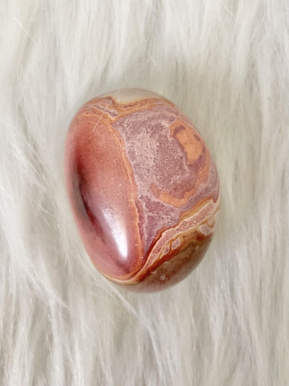 Heart Polychrome Jasper Palmstone