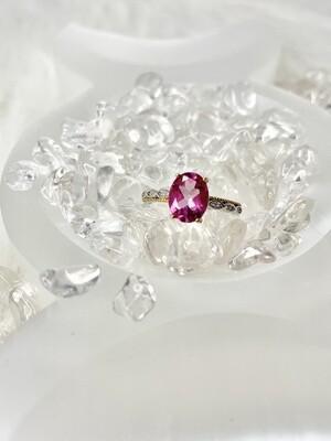 Belle Pink Topaz Ring